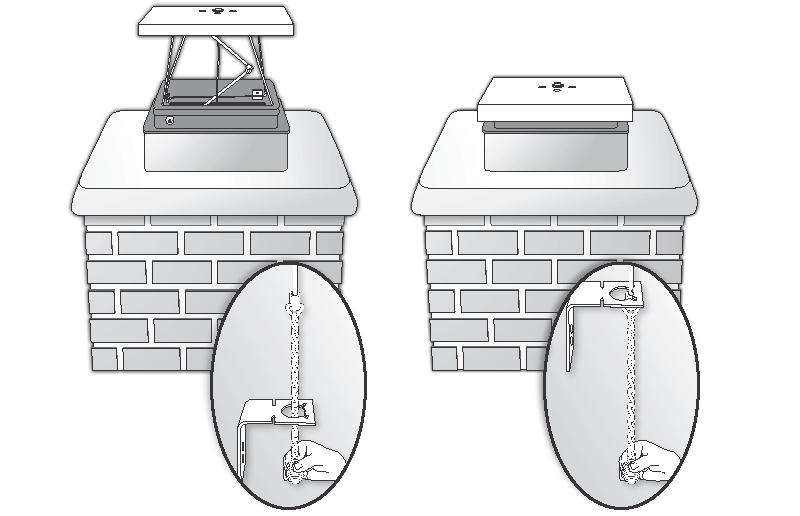 chimney top sealing damper